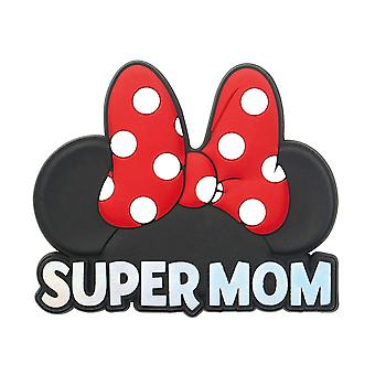 Magnet - Disney - Minnie Head - Super Mom - RED/PINK 85612
