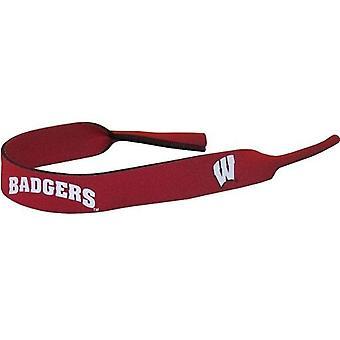 Wisconsin Badgers NCAA neopren stropp for solbriller/Briller