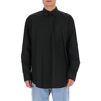 Balenciaga 642291tyb181000 Männer's schwarze Baumwolle Shirt