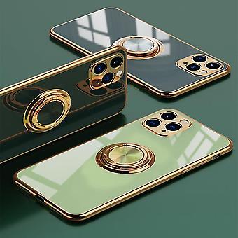 Guscio mobile elegante di lusso ║iPhone11║ con supporto ad anello Funzione Oro