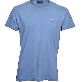 GANT Original Solid Crew-Neck T-Shirt, Denim Blå Melange