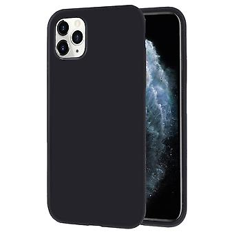 Soft Mobile Protection voor iPhone 11 Pro Solid Colored Mobile Protection Mobile Case Rubber Black