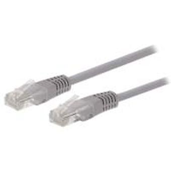Ewent 1.0m Cat6 UTP netwerkkabel 1 m U/UTP (UTP) Grijs