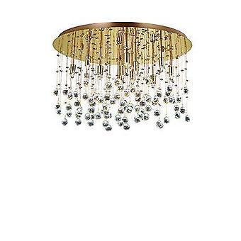 12 Light Large Semi Flush Soffitto Attico Oro, G9