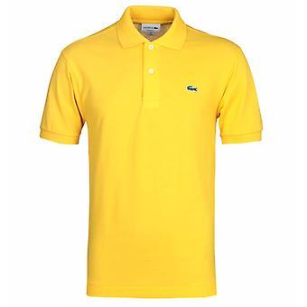 Camisa clássica de Pique Polo Amarelo Lacoste