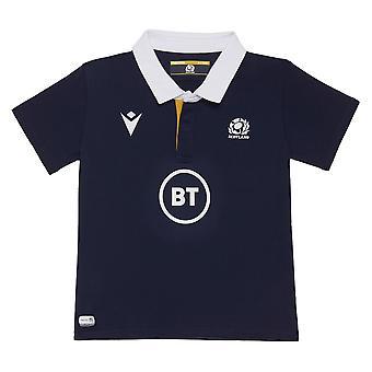 Macron Scotland Rugby Kids Home Replica Shirt | Navy | 2020/21