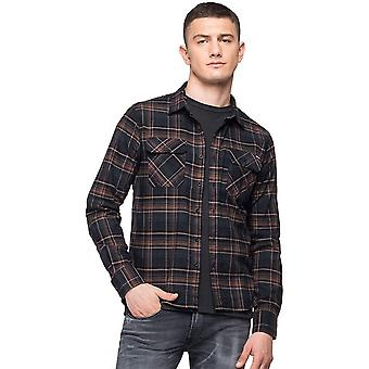 Replay Slim Fit Multicoloured Cotton Shirt