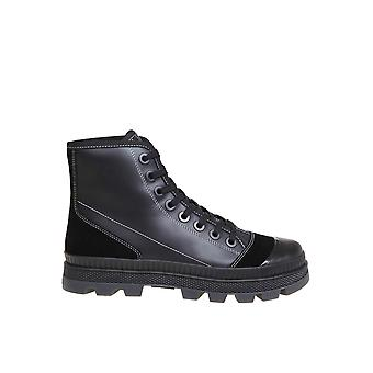 Jimmy Choo Nordmnlynero Men's Black Leather Hi Top Sneakers