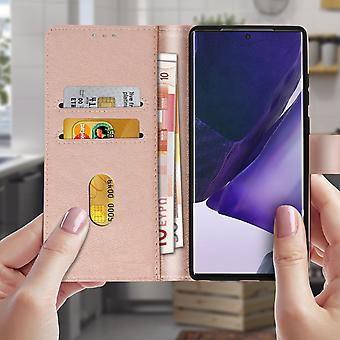 Galaxy Note 20 Ultra Case Cover Card Holder Stand Function - champagne pink