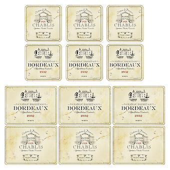 Pimpernel Vin De France Placemats and Coasters Set of 6