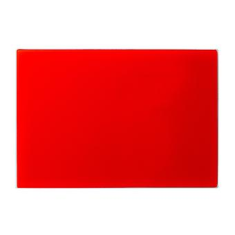 Glass Worktop Saver Chopping Board | 30 x 20cm - Red | Non Slip Tempered Protector for Kitchen Surfaces