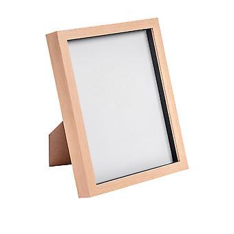 Nicola Spring Light Wood Effect 8x10 Box Photo Frame - Staand en hangend