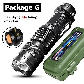 Xp-g Q5 Built In Battery Zoom Focus Mini Led Flashlight Torch Lamp, 2000 Lumens