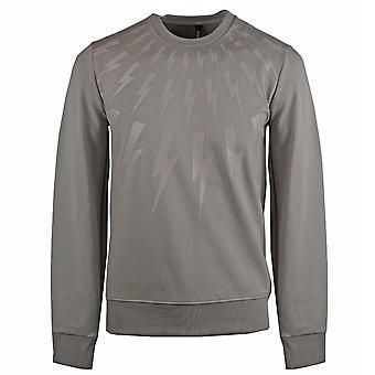 Neil Barrett Thunderbolt Grey Sweatshirt