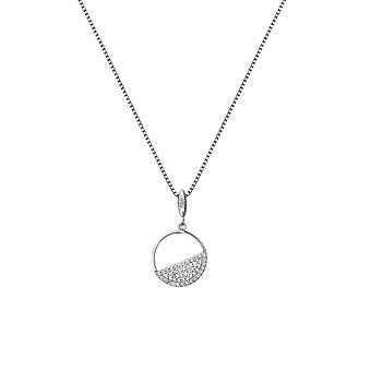 Hot Diamonds Sterling Silver Horizon White Topaz Circle Pendant DP766
