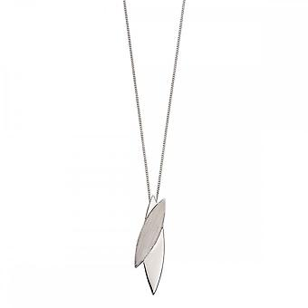 Fiorelli Silver Navetes Brushed And Polished Silver Pendant P4646