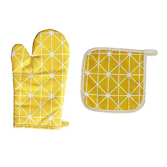 Homemiyn Simple Style Insulated Gloves And Insulated Placemat Combination