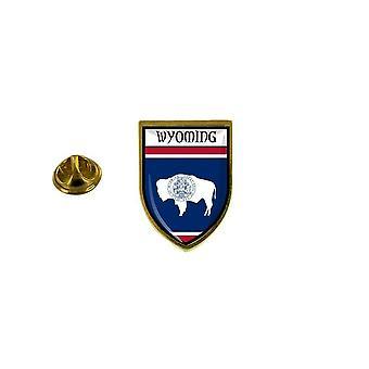 mänty mänty merkki mänty pin-apos;s matkamuisto kaupungin lippu maa vaakuna Usa Wyomingin osavaltiot