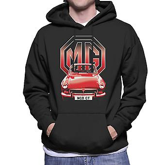MG B GT Red British Motor Heritage Men's Hooded Sweatshirt