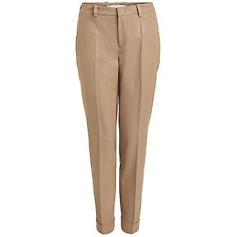 Oui Light Camel Trousers