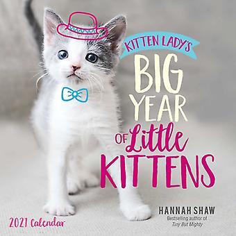 Kitten Ladys Big Year of Little Kittens 2021 Wall Calendar by Hannah Shaw