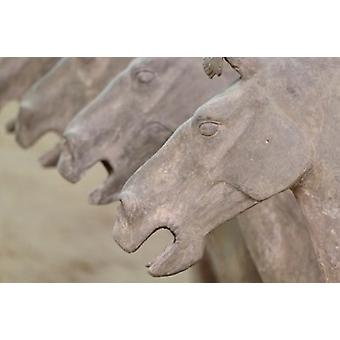 Qin Terra Cotta Warriors and Horses Xian Shaanxi China Poster Print by Adam Jones