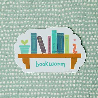 Bookworm Print Vinyl Decal Sticker