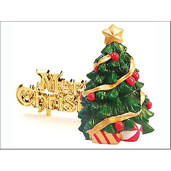 Anniversary House Xmas Tree Topper & Motto x 2 BX219