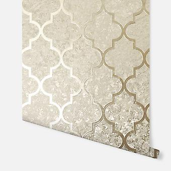 294602 - Champanhe Velvet Trellis - Arthouse Wallpaper