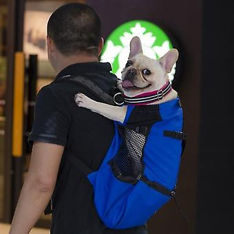 Adjustable Reflective Carrier Bag For Dogs - Outdoor Travel Backpack For Hiking