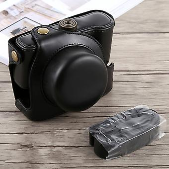 Panasonic LUMIX LX100 (Siyah) kayışlı Tam Vücut Kamera PU Deri Kılıf Çantası