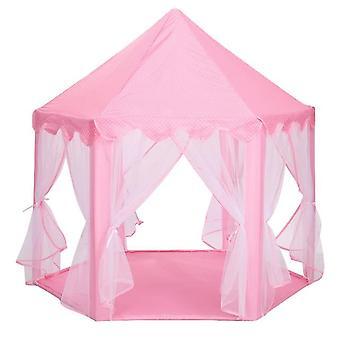Telt bærbar folding prinsesse slottet lekehus