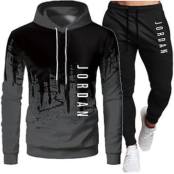 Men Sweatshirt+pants Pullover Hoodie Sportswear Suit Ropa Hombre Casual Clothes