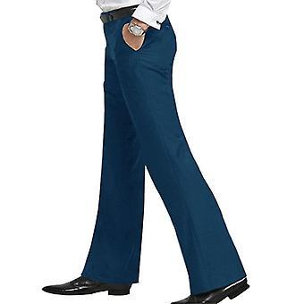 Men's Flared Trousers Formal Pants Bell Bottom Dance Suit