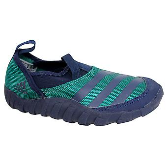 Adidas Jawpaw Kids Slip On Blue Green Outdoor Shoes S32051 B46C