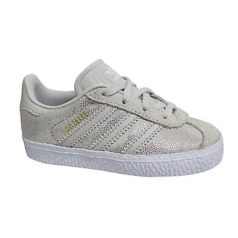 Adidas Originals Gazelle Kids Suede Leather Lace Up Todders Trainers F34584