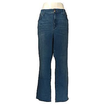 NYDJ Women's Petite Plus Jeans Straight Leg Blue A368110