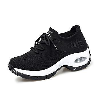 Femmes Breathable Air Cushion Running Shoes Noir