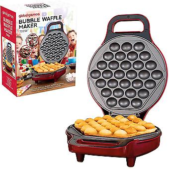 Global Gizmos 35539 700W Bubble Waffle Maker, Plastic, 180 Dual Sided Cooking | Non-Stick