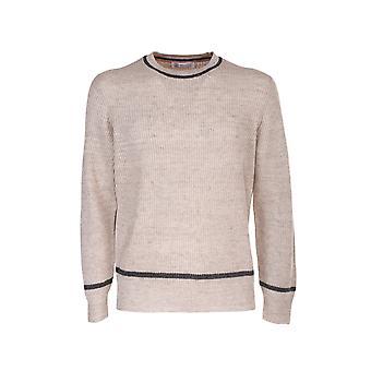 Brunello Cucinelli M2l703200cl432 Hombres's Suéter de lino beige