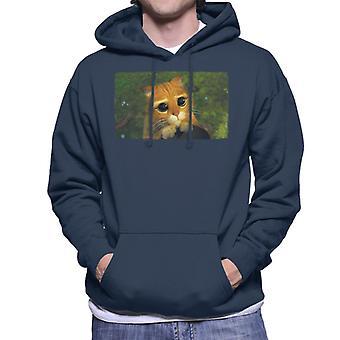 Shrek Puss I Støvler Cute Eyes Mænd's Hooded Sweatshirt