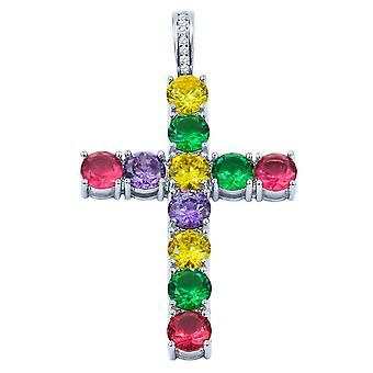 Rainbow Brass Pendant With Cz Stone  | 9126769