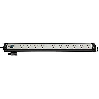 Brennenstuhl 1951503605 Premium-Line 10 Way Switched IEC Plug Ext Socket 2m