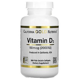 California Gold Nutrition, Vitamin D3, 50 mcg (2,000 IU), 360 Fish Gelatin Softgels