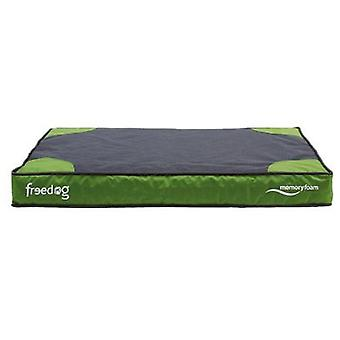 Freedog Memory Foam Flat Bed Green For Pets (Dogs , Bedding , Matresses and Cushions)