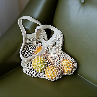 Cotton Mesh Net String, Shopping Bag, Foldable Fruit Storage Handbag
