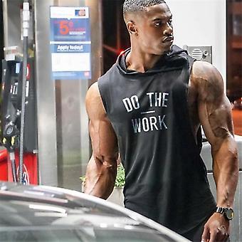 Gør arbejdet Print Bodybuilding Stringer hættetrøjer, Sporting Fitness, Tank Top Mænd