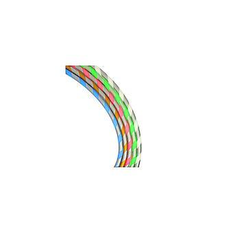 Silicone flexível listrado