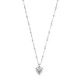 ChloBo Halskette mit gemusterten Herz Anhänger SNBB691