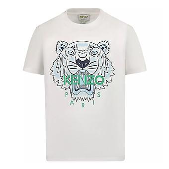 Kenzo pojat valkoinen ikoni tiikeri t-paita kr10768